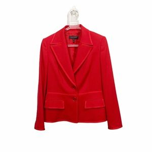 Escada Lipstick Red Blazer Suit Jacket